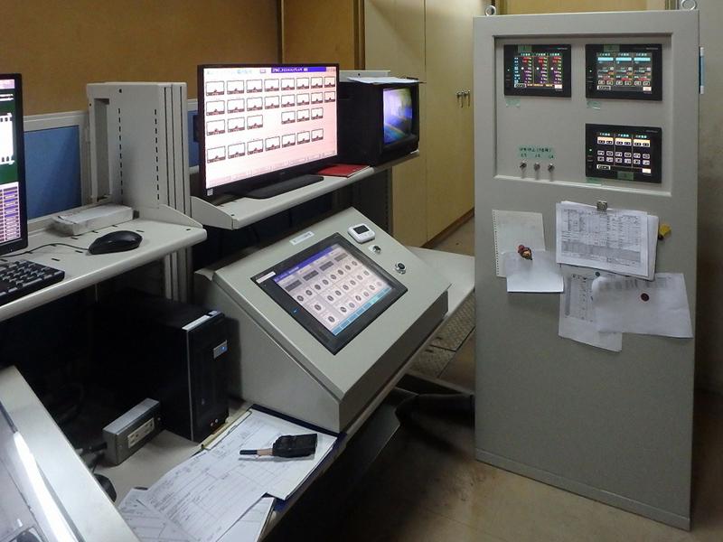 操作室第2,3サイロ(ディスプレー)